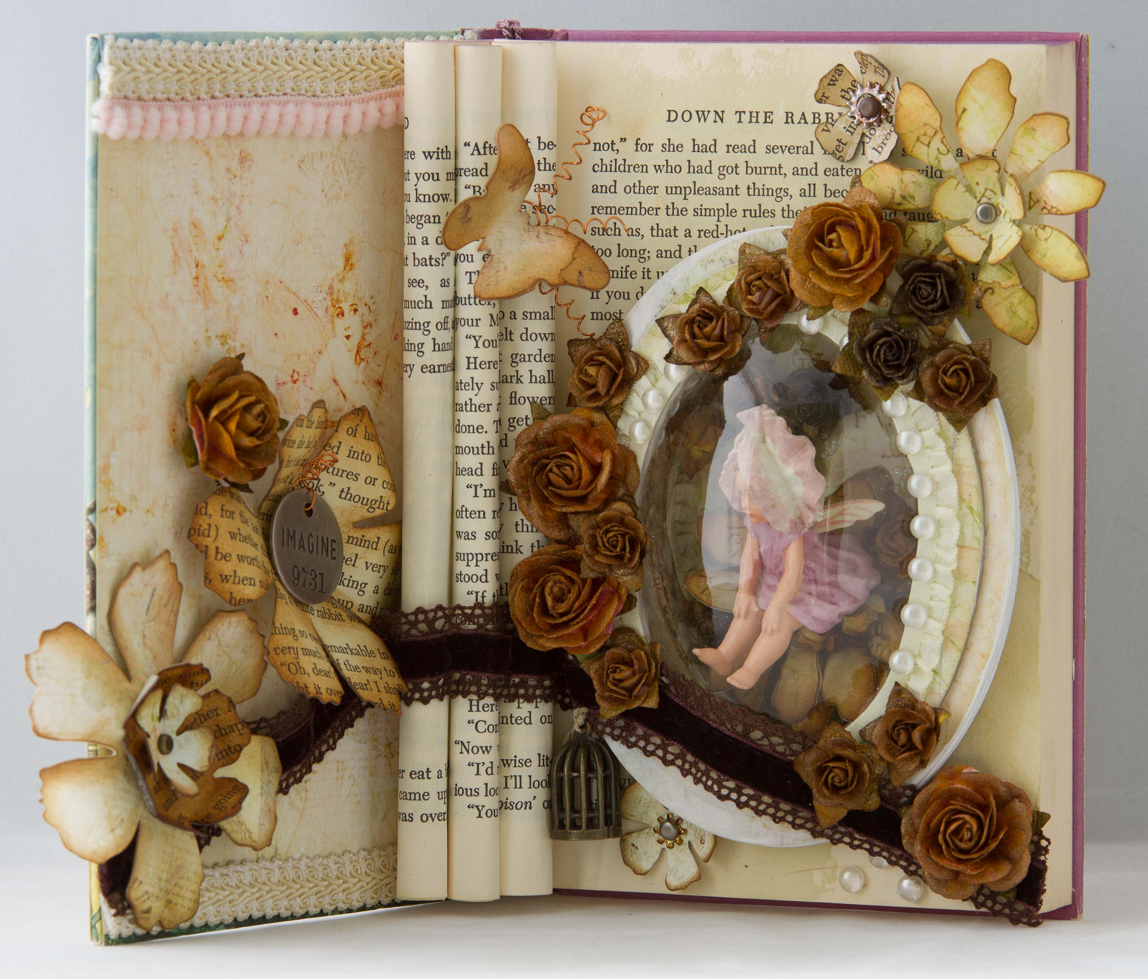 Fairy Altered Book Candy Scraps