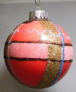 Art Glitter Ornament by Candy Spiegel