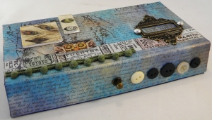 altered cricut box by Candy Spiegel