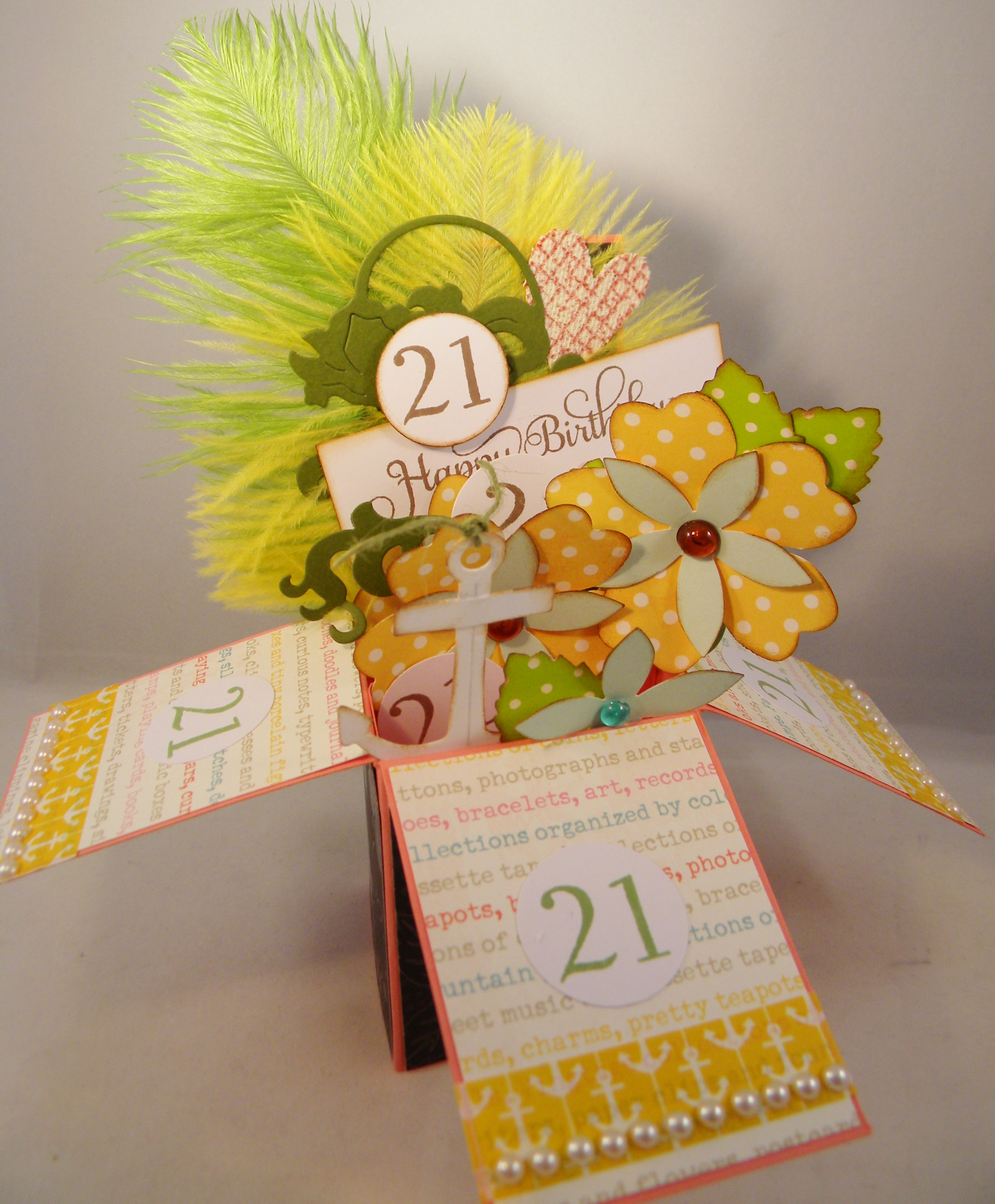 Birthday Cards Box ~ Birthday card in a box candy scraps
