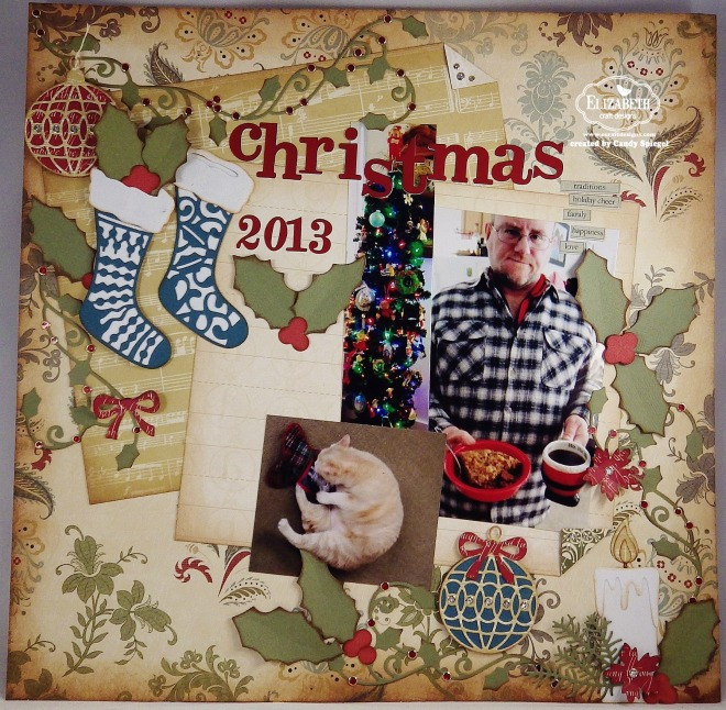 ECD Christmas Layout by Candy Spiegel